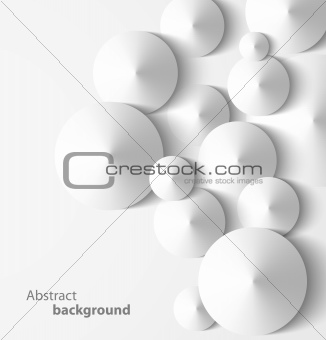 Abstract 3D cone geometrical background