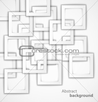 Abstract 3D square geometrical background