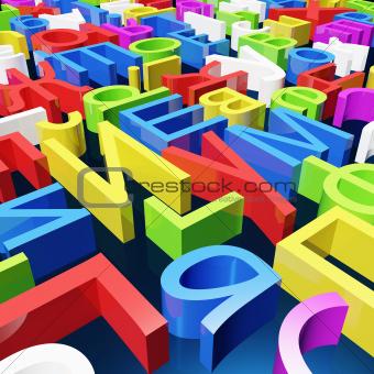 Color cyrillic letters