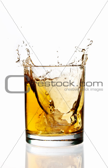Whisky ice splash