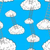 Clouds with stairs, seamless wallpaper