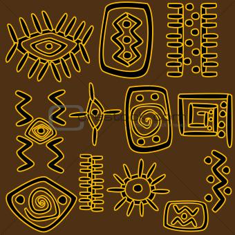 African motifs background