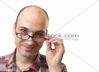 caucasian man with glasses