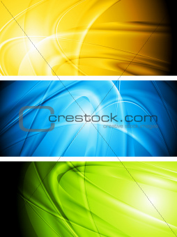 Abstract glowing banners collection
