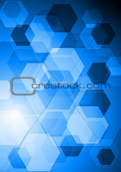 Bright blue hi-tech background