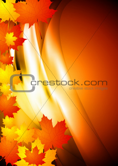 Wavy autumn background