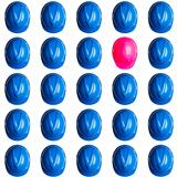 pink and blue hardhats on white