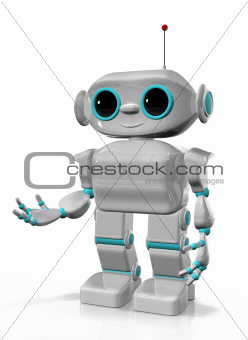 cheerful robot