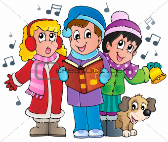 Christmas carol singers theme 1