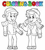 Coloring book kids theme 1