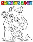 Coloring book Nativity scene 1