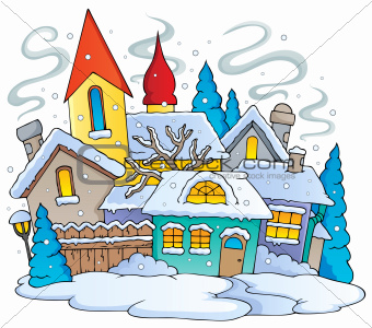 Winter town theme image 1