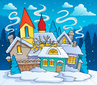 Winter town theme image 2