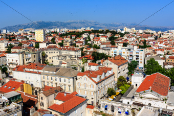 Aerial View on Diocletian Palace and City of Split, Croatia