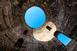 Under Diocletian Mausoleum Dome in Split, Croatia