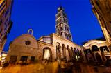 Peristyle and Diocletian Palace in Split in the Evening, Croatia