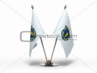 Miniature Flag of Massachusetts (Isolated)