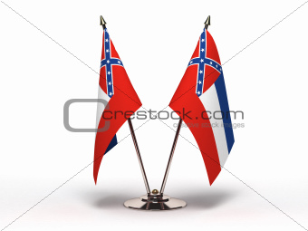 Miniature Flag of Mississippi (Isolated)