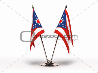 Miniature Flag of Ohio (Isolated)