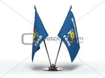 Miniature Flag of Wisconsin (Isolated)