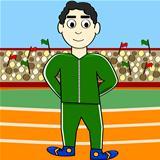 Cartoon athlete