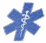 scribble medical symbol illustration design