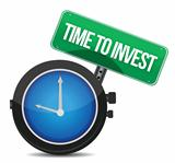 Time to invest concept illustration design