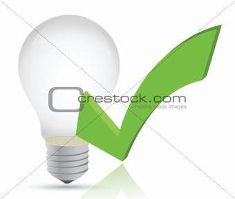 light bulb and check mark illustration
