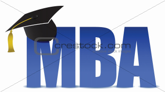 MBA graduation tassel hat