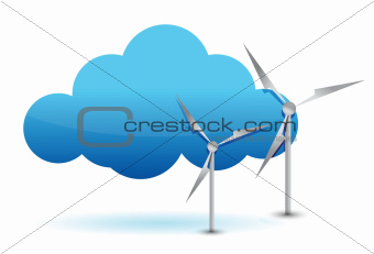 cloud computing and windmill