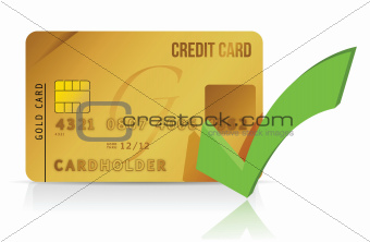 credit card and check mark