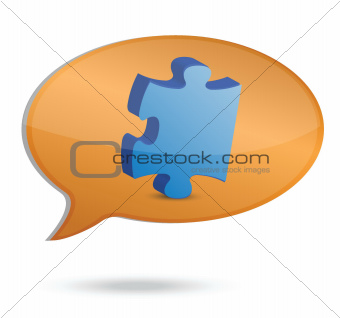message and puzzle illustration design