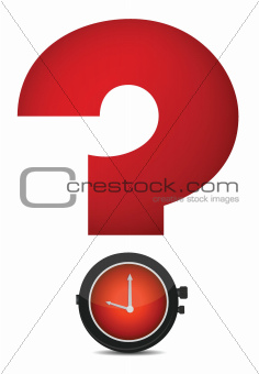 question mark and watch