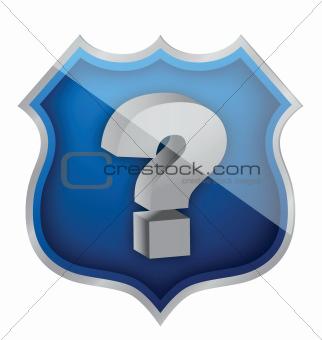 shield question mark illustration