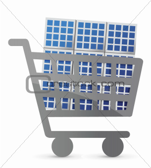 shopping cart and solar