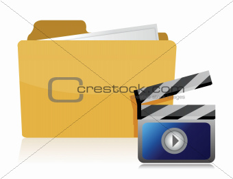 video folder illustration
