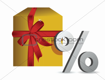 gift percentage illustration design