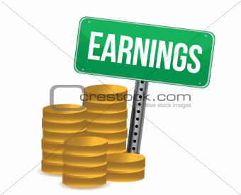 earnings illustration design