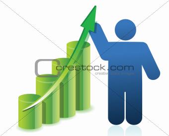 business icon graph