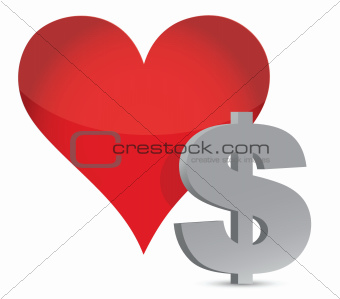money heart currency