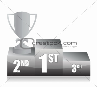 silver trophy cup 2nd place