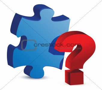question mark puzzle piece