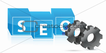 seo gears illustration design