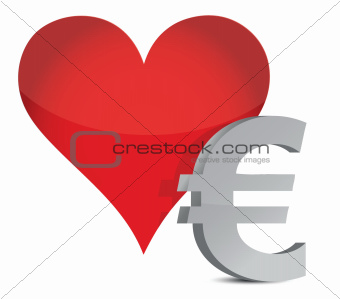 euro heart illustration design