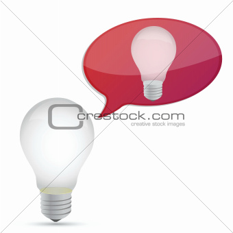 idea concept illustration design lightbulb