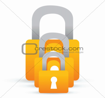 set of lock illustration design