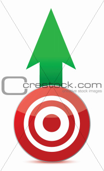 arrow and target illustration design