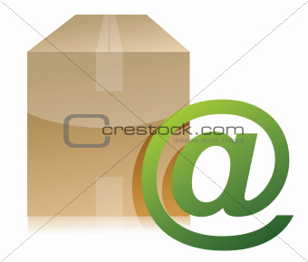 box and mail sign illustration design