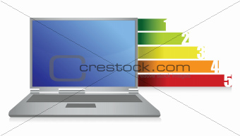 laptop and graph illustration design