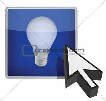 idea button illustration design